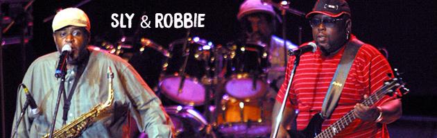 Salvador,BA,Brasil.25/10/03 10º PercPan, Panomaram Percussivo Mundial. Os jamaicanos Sly & Robbie ,baixista e baterista, acompanhados de Dean Fraser no sax. Foto © Marcos Issa/Argosfoto