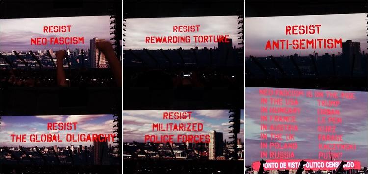 Roger Waters Show Salvador Frases Projeções