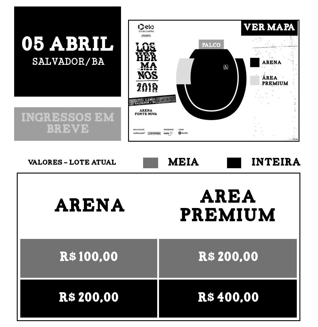 Los Hermanos turnê Brasil Arena Fonte Nova