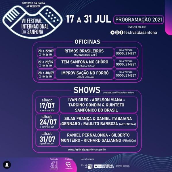 Festivais online bahia Festival Internacional da Sanfona
