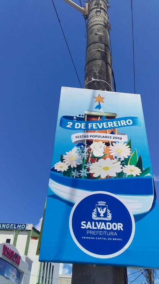 Festa Yemanjá Rio Vermelho Placa Prefeitura