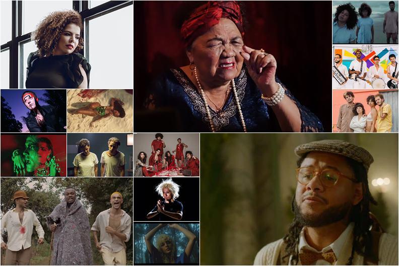Vários Videoclipes da mostram as novidades da Música Brasileira
